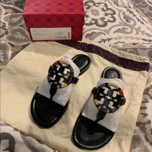 Tory Burch Miller Embroidered Sandal 8.5